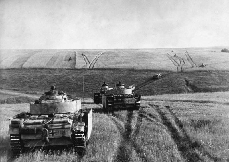Наступление немецких танков
