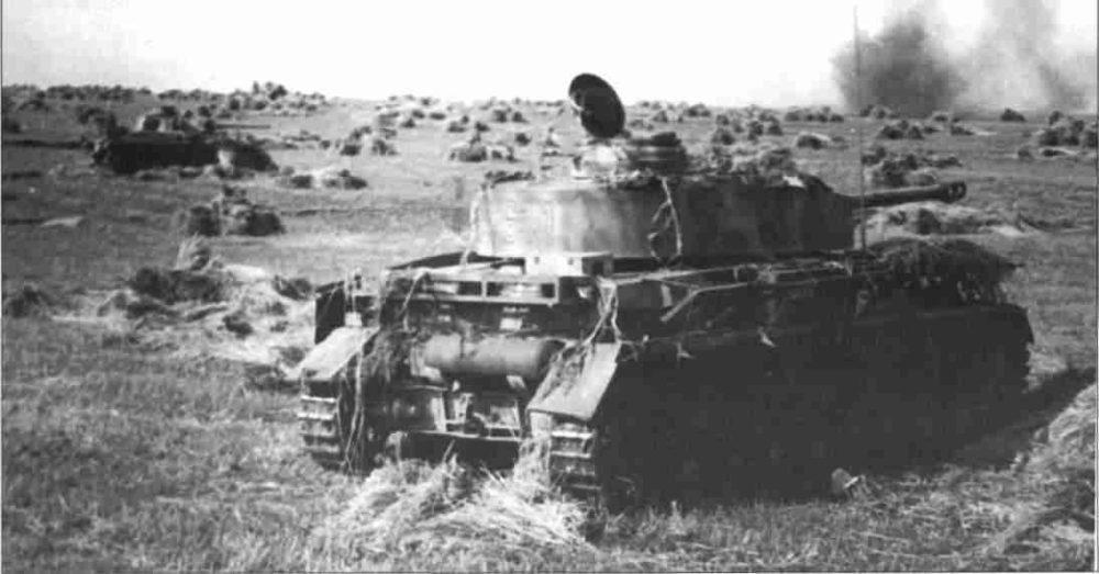Немецкие танки у Обояни