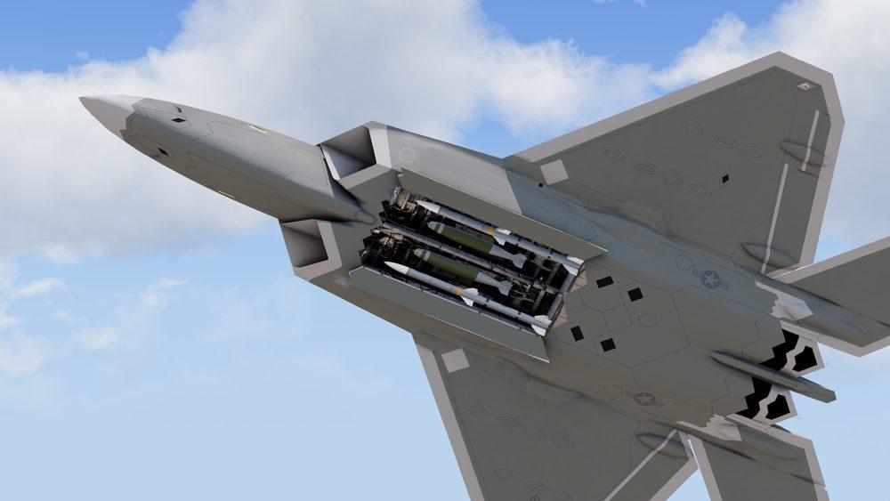 Отсек вооружения на F-22