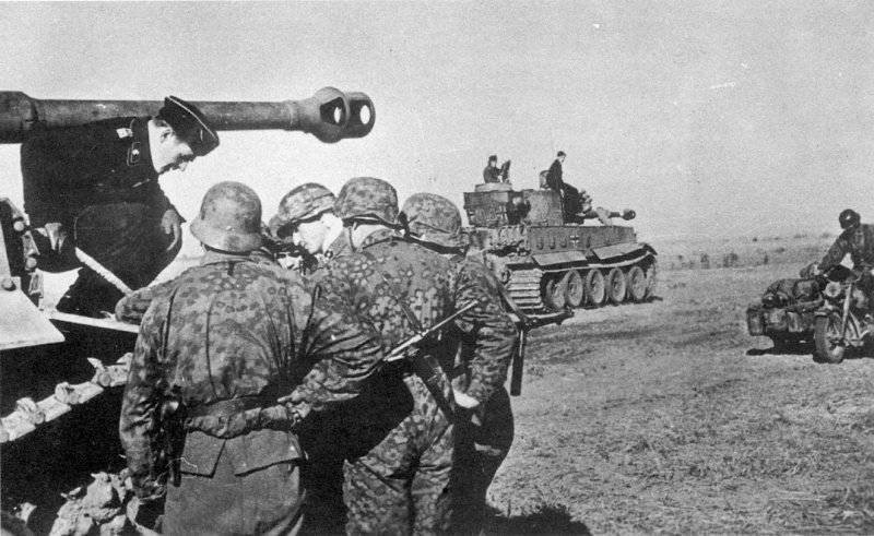 Солдаты 2-го танкового корпуса СС