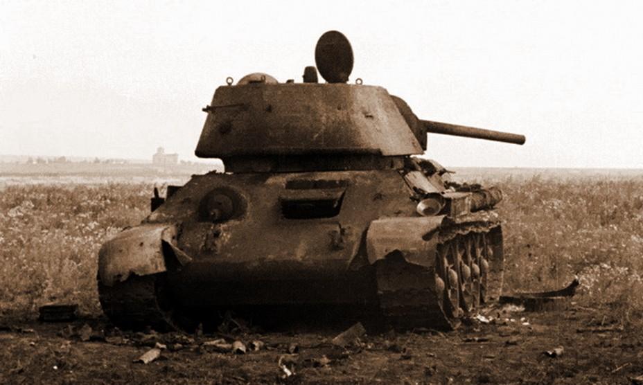 Т-34-76, уничтоженный под Прохоровкой