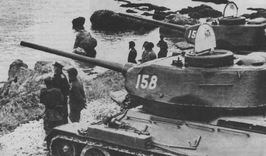Т-34-85 на побережье