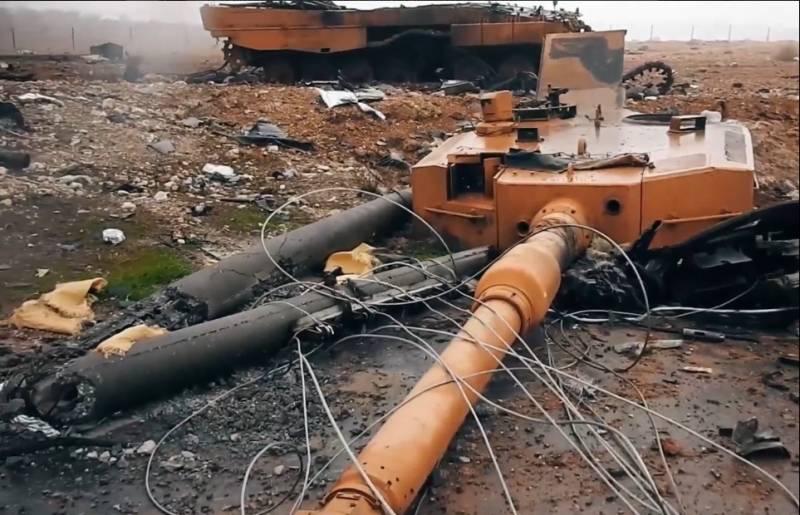 Уничтоженный «Леопард 2А4»