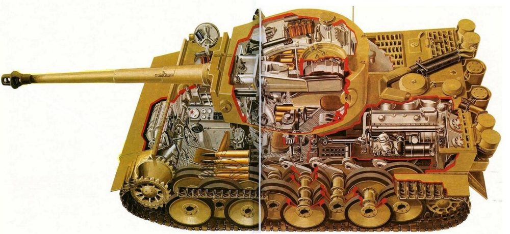 Внутренняя компоновка «Тигра»
