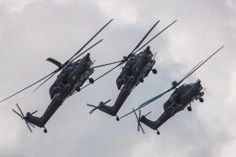 Пилотаж на Ми-28Н