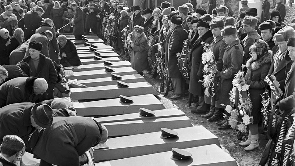 Похороны пограничников