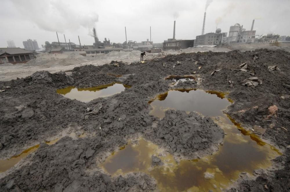 Промышленное загрязнение почвы