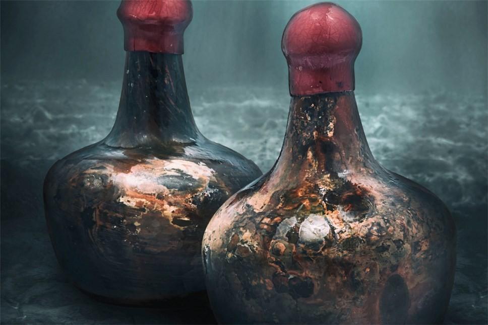 Старинные бутылки