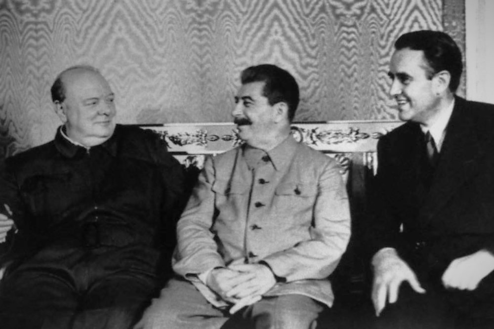 Черчилль, Сталин и Гарриман