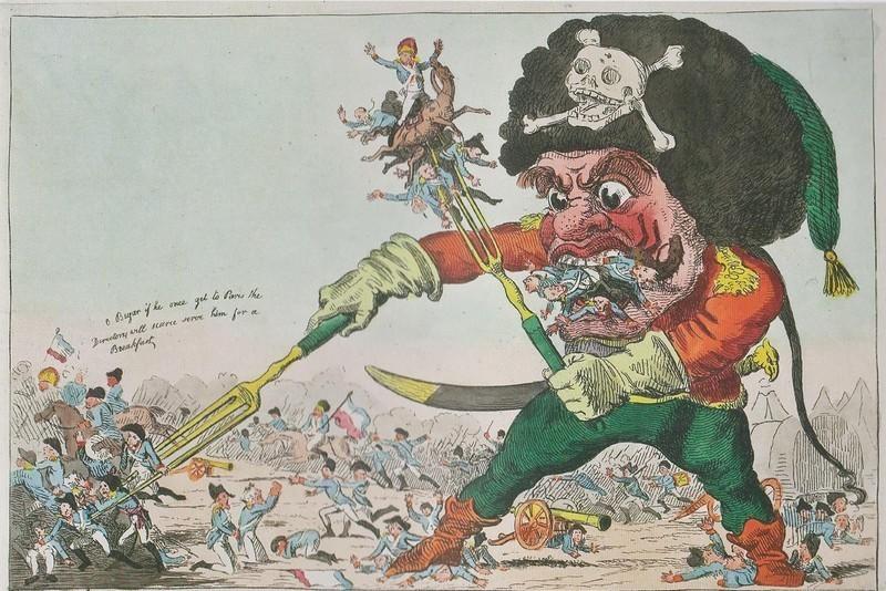 Карикатура на Суворова