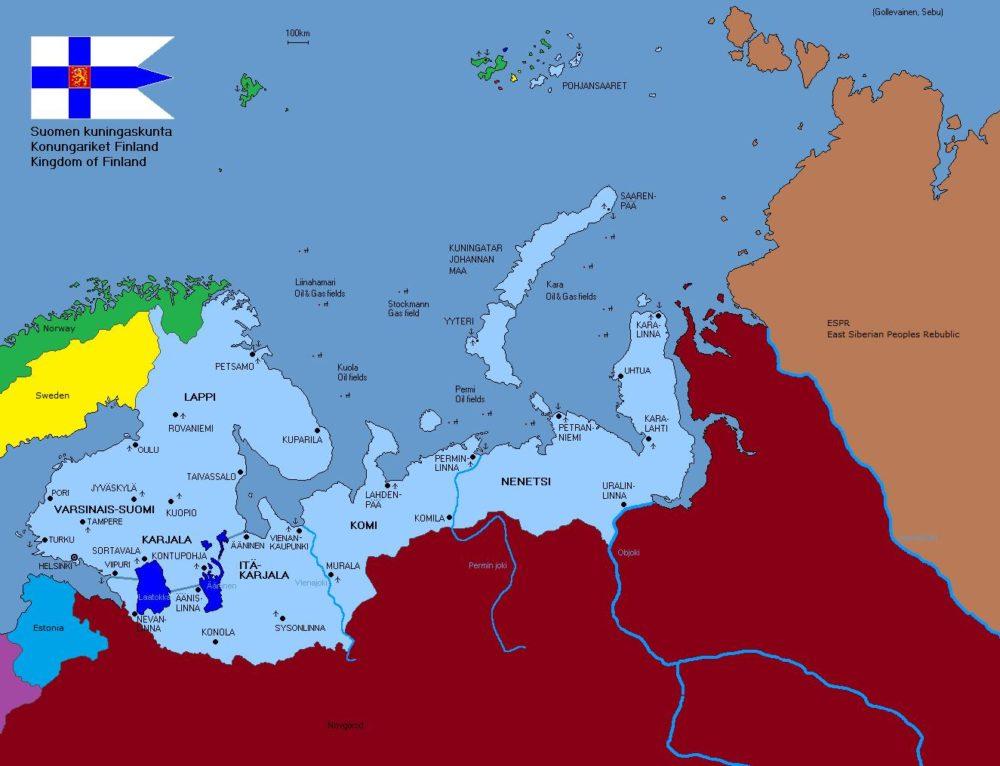 Карта «Великой Финляндии»