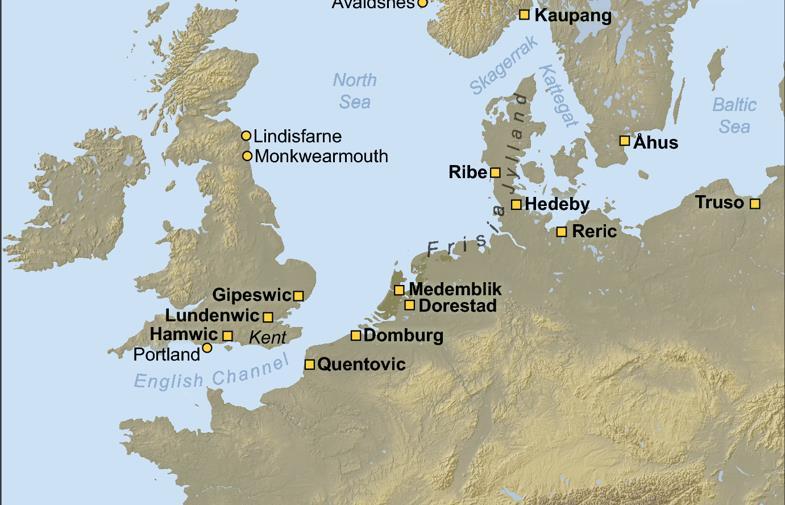 Места высадок викингов