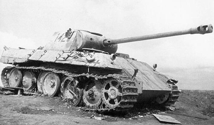 «Пантера», подбитая на Курской дуге