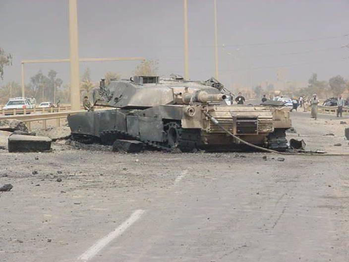 Подбитый Abrams в Ираке