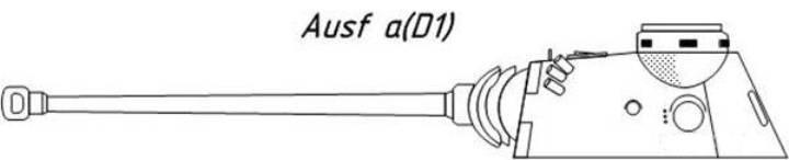 Проекция башни Pz.Kpfw. V Ausf. D1