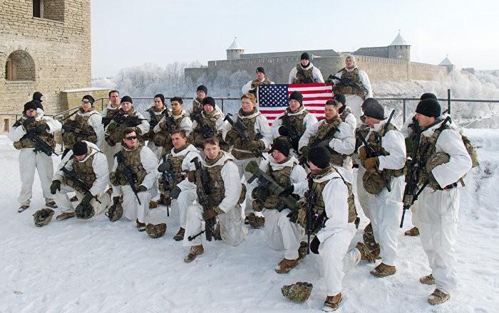 Солдаты США возле границы России
