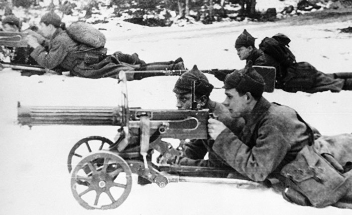 Советские пулеметчики