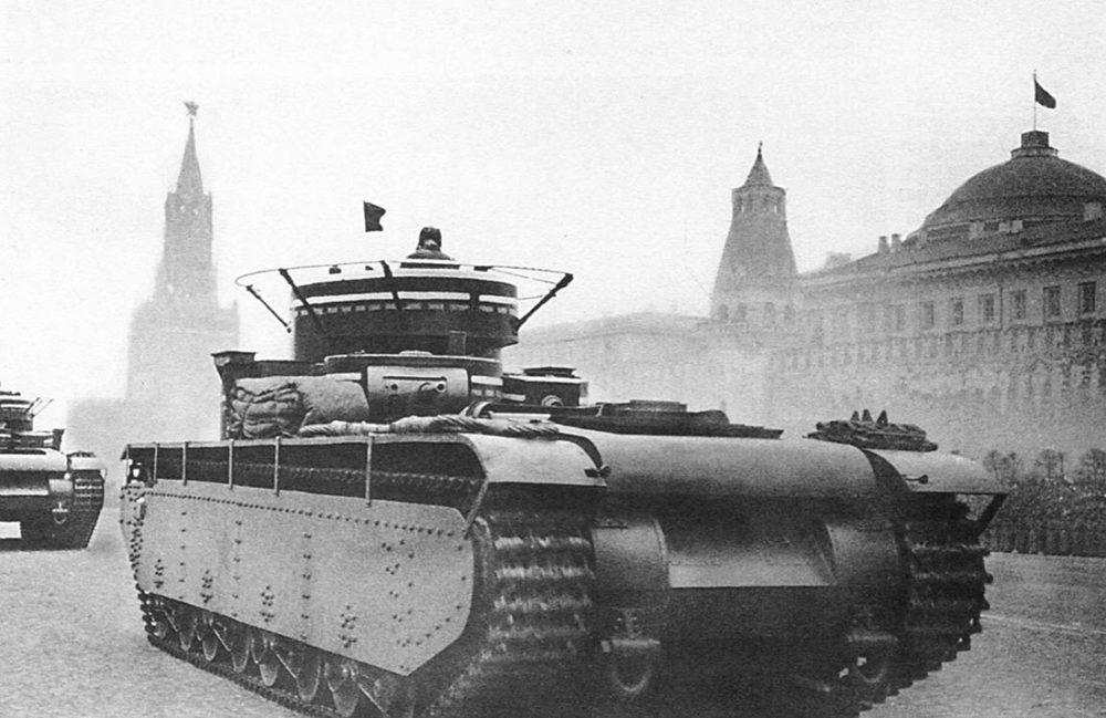 Т-35 на параде