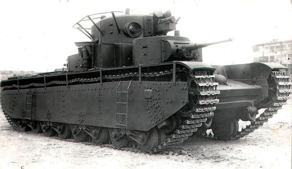 Т-35 с фарами