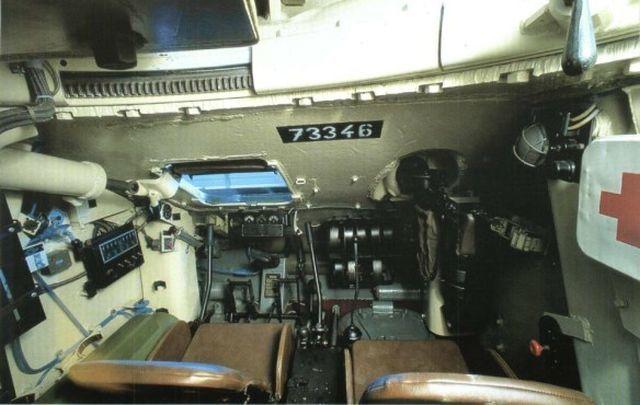 Вид на отделение управления Т-34