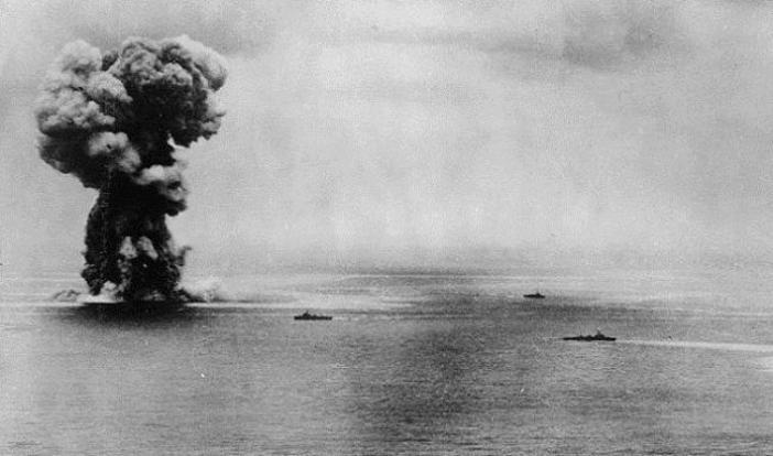 Взрыв линкора «Ямато»