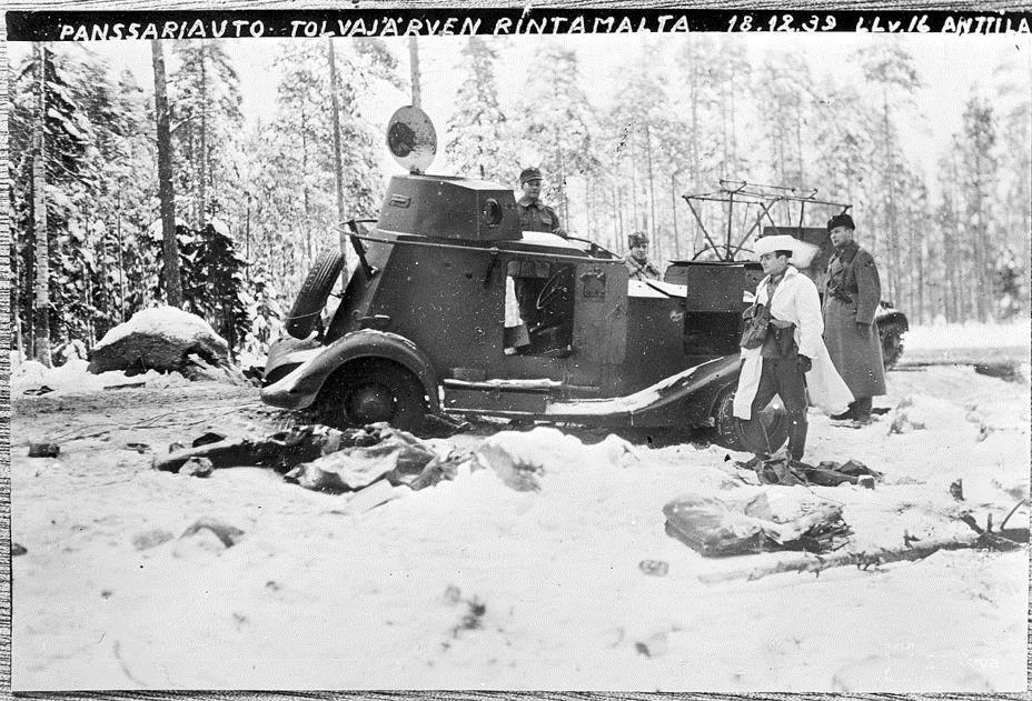 Захваченный советский бронеавтомобиль
