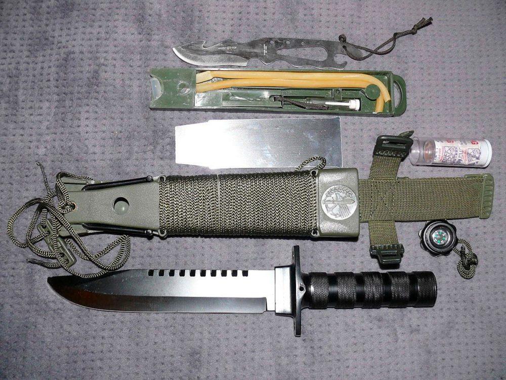 Комплектация ножа для выживания