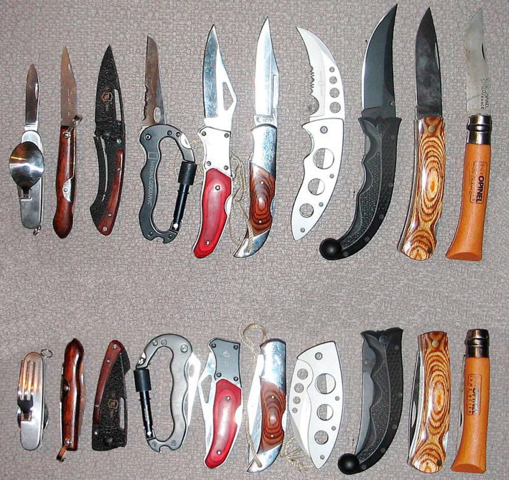 Образцы складных ножей