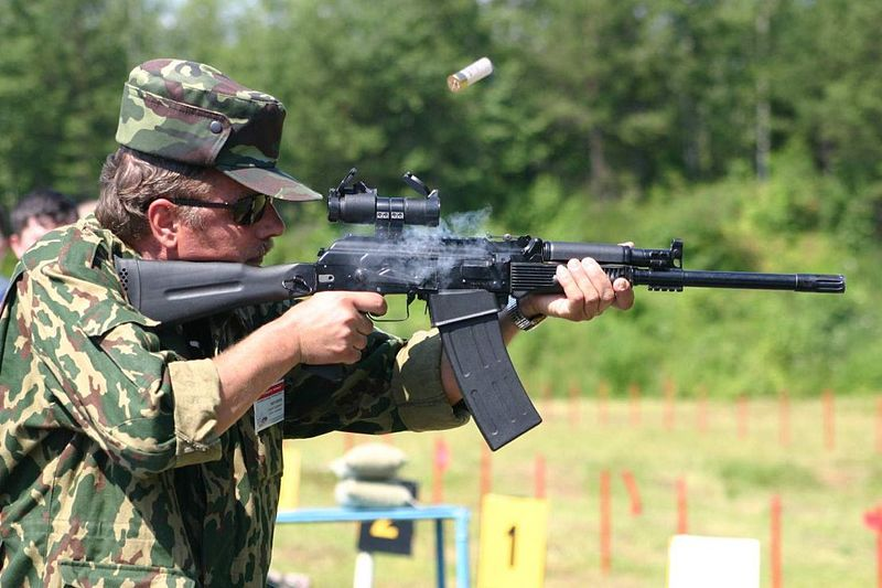 Стрельба из «Сайги 410»