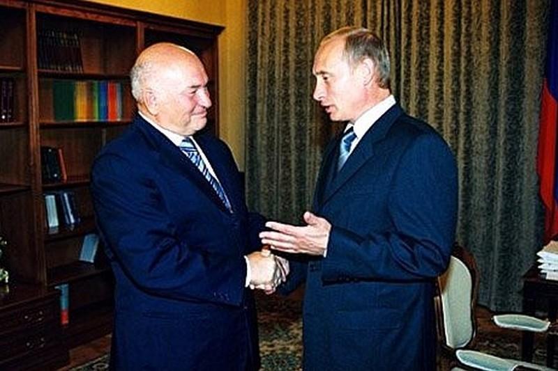 Лужков и Путин
