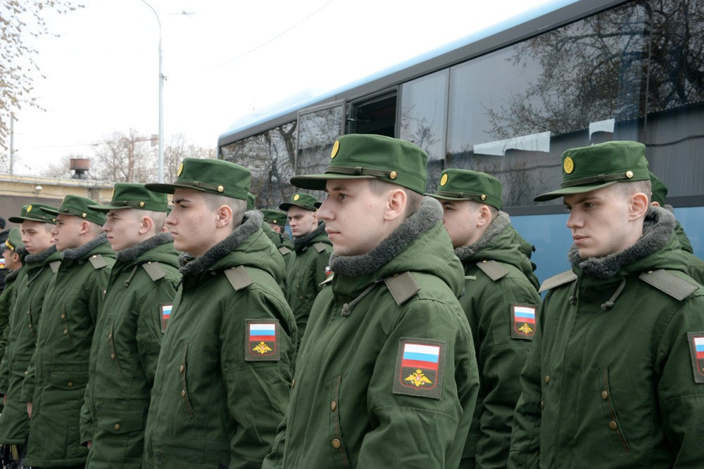 Призывники в России