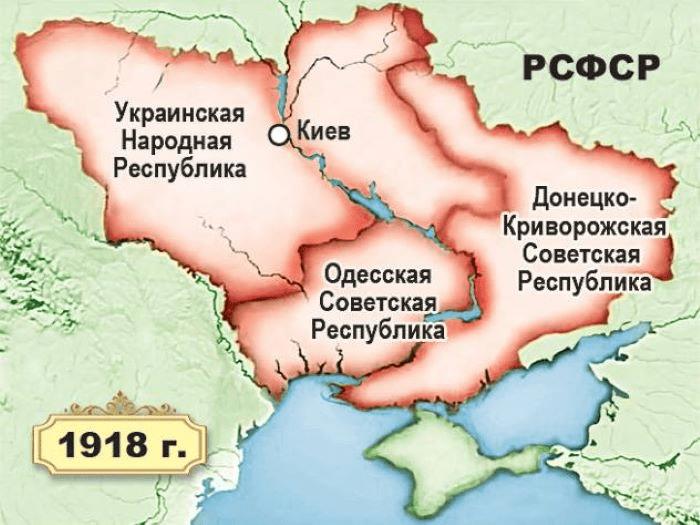 Гражданская Война на Украине с 1917 по 1921 Год