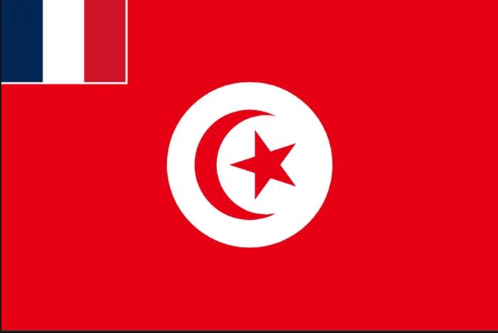 флаг туниса и франции 1881 года