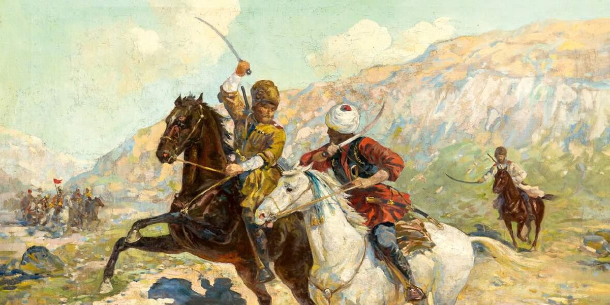 войска донских казаков поочередно обновляли знамена в честь Кавказской войны